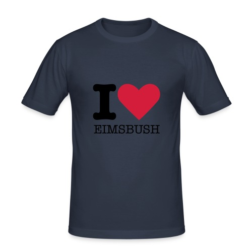 I Love Eimsbush Shirt, black - Männer Slim Fit T-Shirt