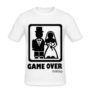 GAME OVER WHITE MEN - Tee shirt près du corps Homme