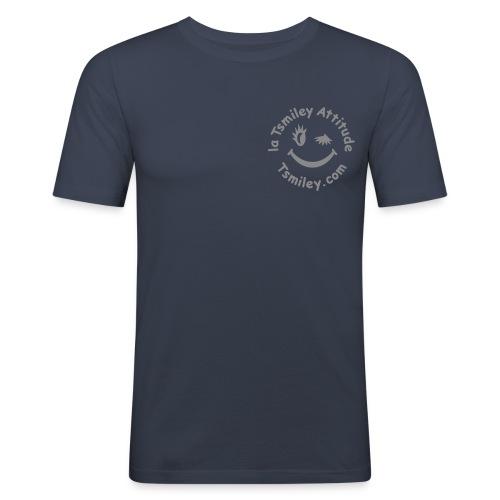 Badge Tsmiley Glamour - argent étincelle - T-shirt près du corps Homme