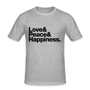 love peace happiness T-shirts - slim fit T-shirt
