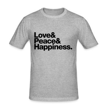 love peace happiness T-shirt
