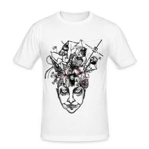 Journey to the centre of my mind - Men's Slim Fit T-Shirt