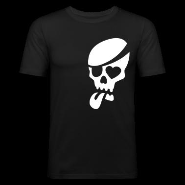Nero totenkopf skull pirat zunge T-shirt