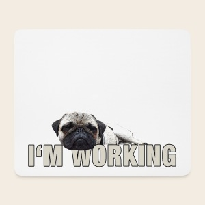 Mops at work Mouspad - Mousepad (Querformat)