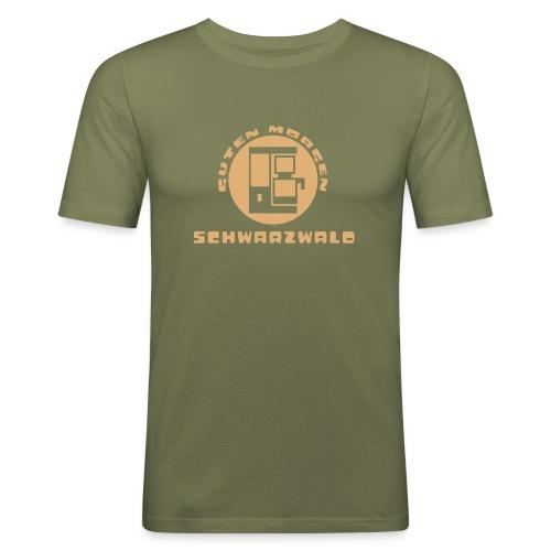 Schwarzwald Guten Morgen Kaffee T-Shirt - Männer Slim Fit T-Shirt