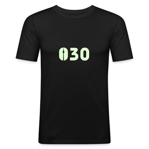 030 SHIRT GLOW-IN-THE-DARK - Männer Slim Fit T-Shirt