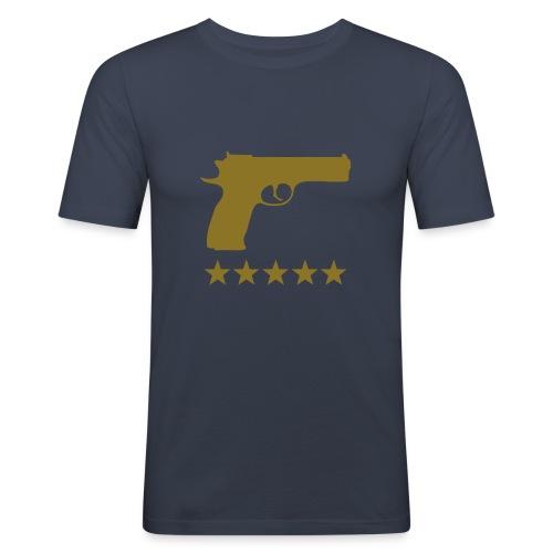 T-shirt pistol 5 star - T-shirt près du corps Homme