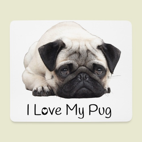 I Love my Pug Mouspad - Mousepad (Querformat)