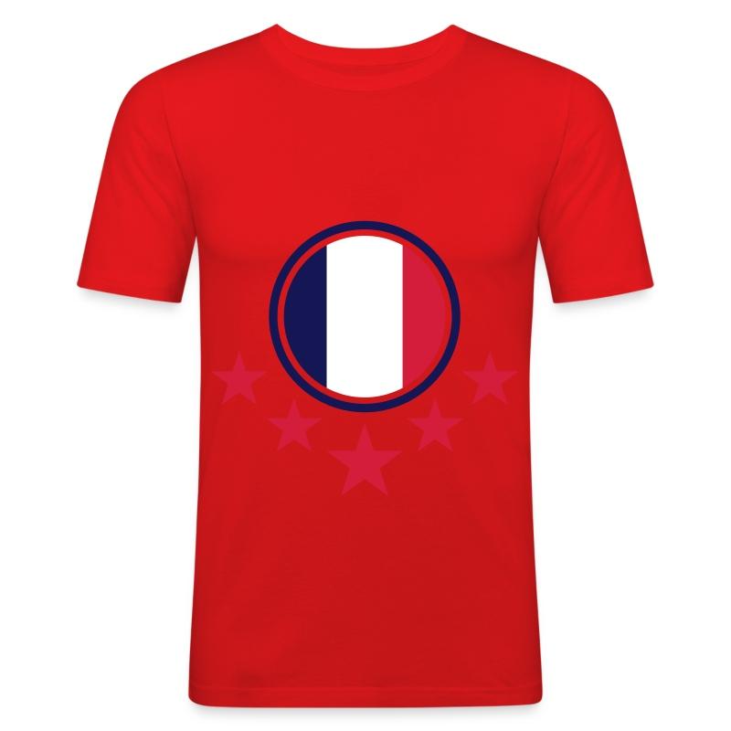 france_flag_3c - Männer Slim Fit T-Shirt