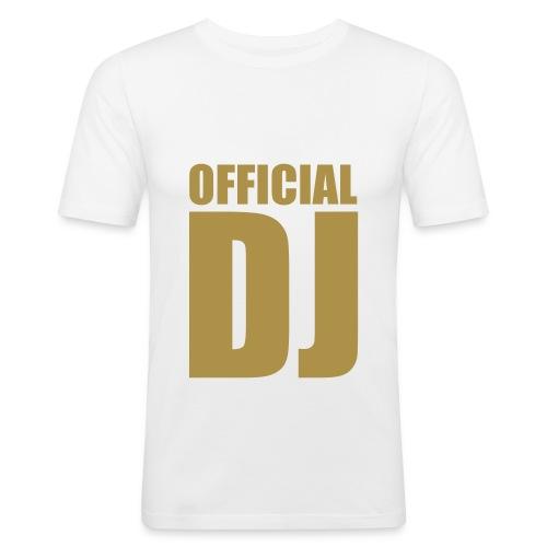 T-shirt slim fit logo ufficial dj in oro - Maglietta aderente da uomo