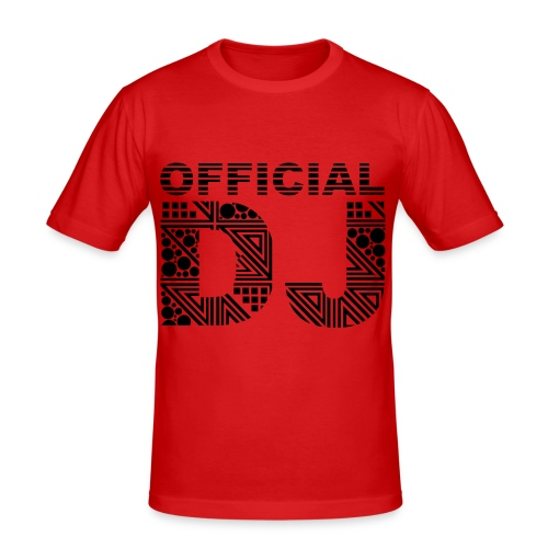 Official DJ T-shirt - Männer Slim Fit T-Shirt