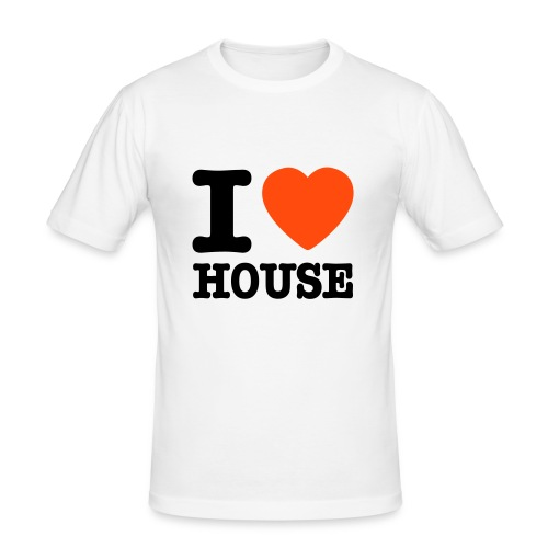I Love House Tee - Men's Slim Fit T-Shirt