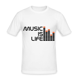 Music is Life Tee - Men's Slim Fit T-Shirt