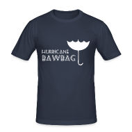 T-Shirts ~ Men's Slim Fit T-Shirt ~ Hurricane Bawbag Brolly Up