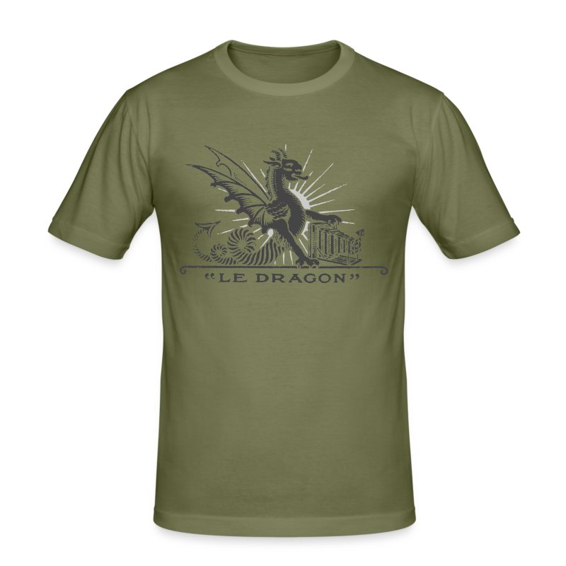 Dragon grey - Tee shirt près du corps Homme