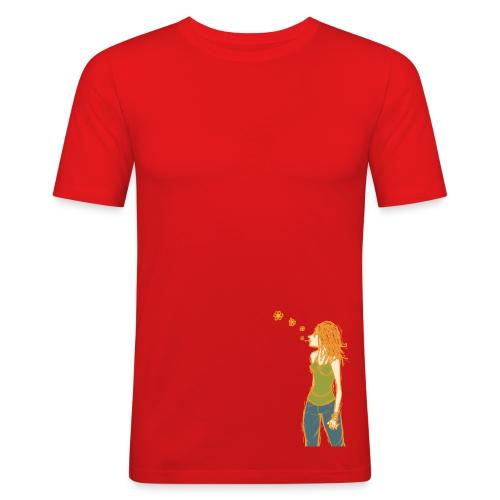 Hippie, peace. - T-shirt près du corps Homme