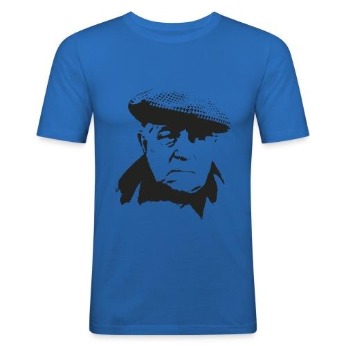 Jean Gabin - Portrait - Noir/Bleu ciel - T-shirt près du corps Homme