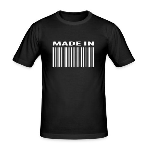 made in barcode - Men's Slim Fit T-Shirt