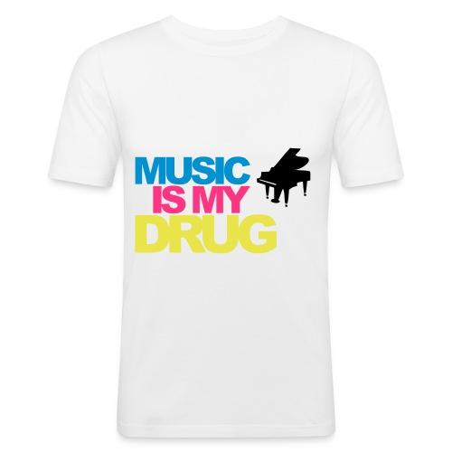 MUSIK IS MY DRUG - Slim Fit T-shirt herr