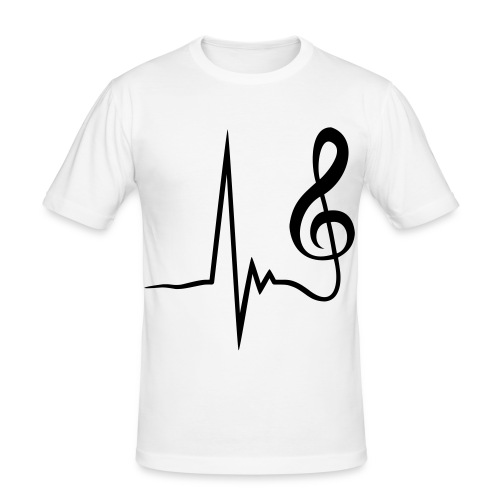 music slim fit . the special sound dj now for you! - Maglietta aderente da uomo