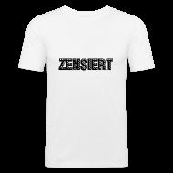 T-Shirts ~ Männer Slim Fit T-Shirt ~ Slim Fit - Zensiert