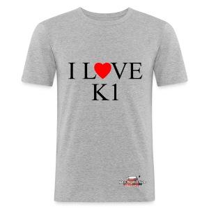 I love  K1 - Maglietta aderente da uomo