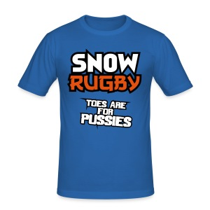 Snow Rugby - Men's Slim Fit T-Shirt