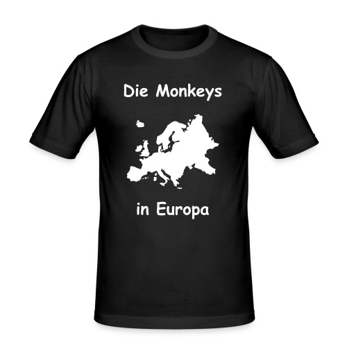 Die Monkeys in Europa-1-Weiß - Männer Slim Fit T-Shirt