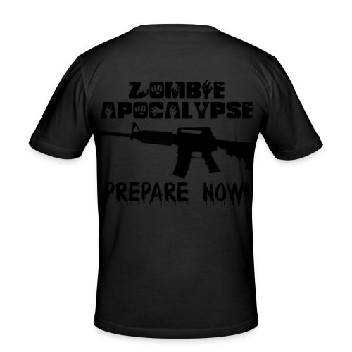 Zombie Short Sleeve - Men's Slim Fit T-Shirt
