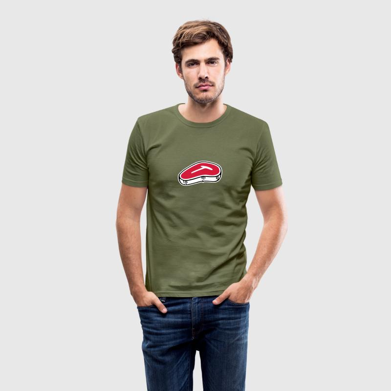 T-Bone Steak - Men's Slim Fit T-Shirt