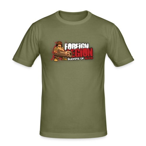 Foreign Legion: Buckets of Blood Olive Thight - Men's Slim Fit T-Shirt