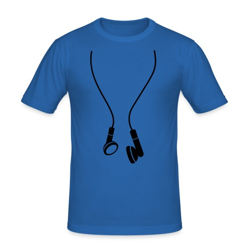 mens Headphone tee - Men's Slim Fit T-Shirt