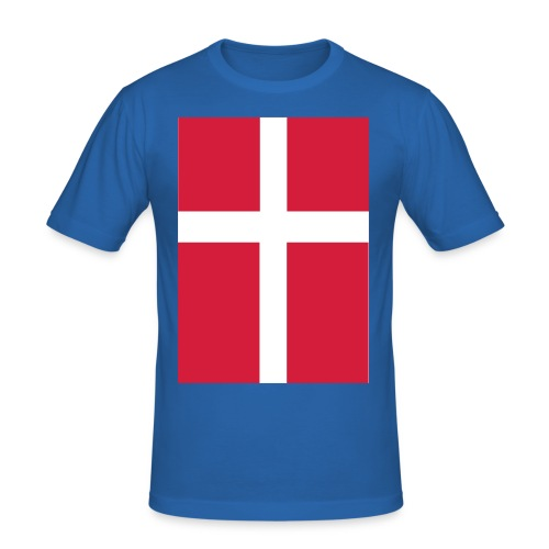 Danmark T-Shirt - Mænd - Herre Slim Fit T-Shirt
