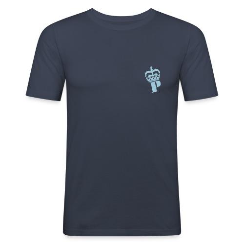Tshirt coupé prés du corp avec motif P couronne - T-shirt près du corps Homme