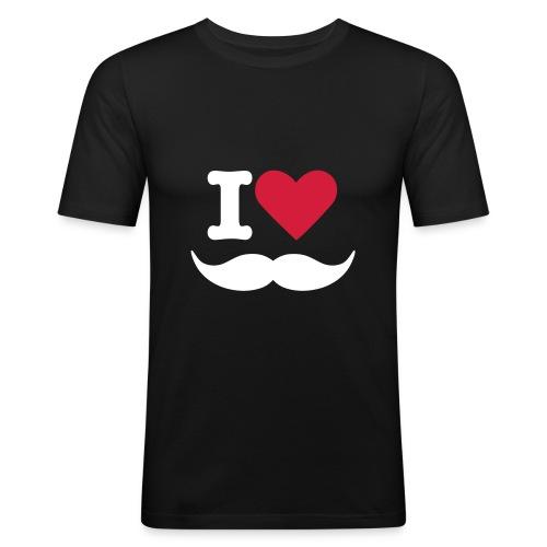 iheartstache - T-shirt près du corps Homme