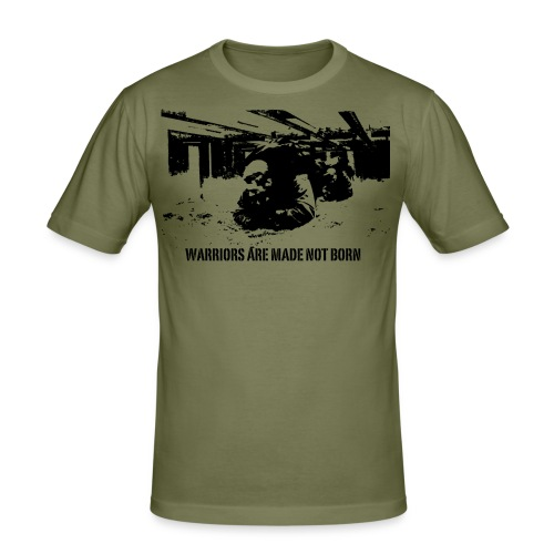 T-shirt Warrior are made - Slim Fit T-shirt herr