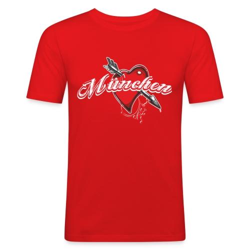München Heart Männer Slim Fit Shirt - Männer Slim Fit T-Shirt