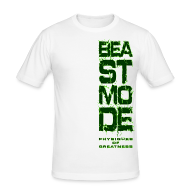T-Shirts ~ Men's Slim Fit T-Shirt ~ Beastmode Side