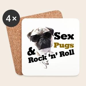 Sex Pug Rock n Roll Untersetzer - Untersetzer (4er-Set)