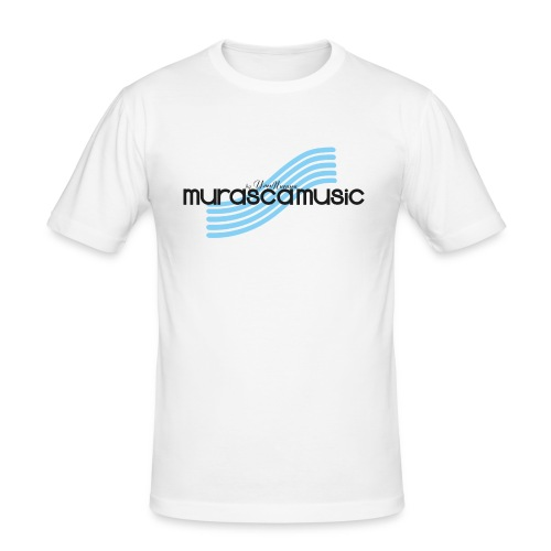 Murasca Music Men's T-Shirt Slim Fit / White - Men's Slim Fit T-Shirt