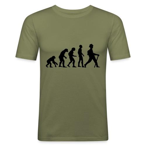 Rambling Evolution - Männer Slim Fit T-Shirt