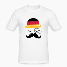 Germany fashionable retro iconic gentleman with flag and Moustache | sports | football |  T-paidat