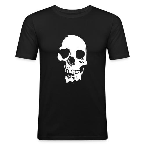 T.skjorte med skalle motiv - Slim Fit T-skjorte for menn