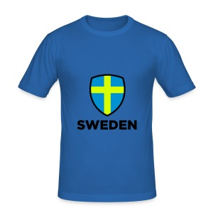 Männer Slim Fit T-Shirt Sweden - Männer Slim Fit T-Shirt