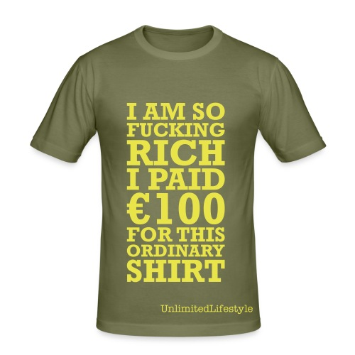 Fucking rich - Herre Slim Fit T-Shirt
