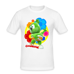Gummibär Fun Flowers Men's Slim Fit T-Shirt - Men's Slim Fit T-Shirt