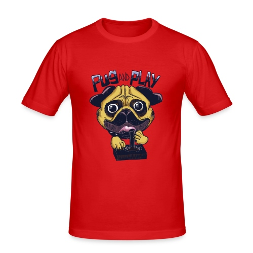 Pug & Play - Maglietta aderente da uomo