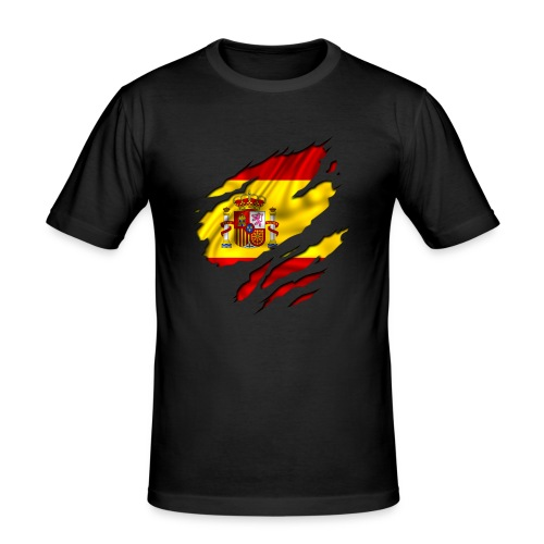 Spaanse vlag - slim fit T-shirt