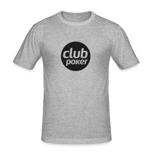 T-shirt Chiné Club Poker Noir brillant - Tee shirt près du corps Homme