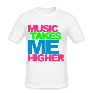 Music Takes me higher - Tee shirt près du corps Homme